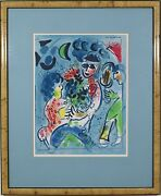 Marc Chagall French Russian 1887-1985 Original Color Lithograph Print