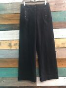 Vintage U.s. Navy Wool Dress Pants 32r With Anchor Buttons 100wool