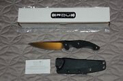 Brous Blades D2 T5 Fixed Blade Knife Satin G10 Handle Limited Bnib