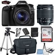 Canon Eos 80d Camera Bundle With Canon Ef-s 18-55mm F/3.5-5.6 Is Stm Lens