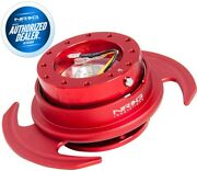 New Nrg Gen. 3 Steering Wheel Quick Release Red Body And Ring W/ Handles Srk-650rd