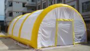 Inflatable Family Camping Recreation Tunnel Tent W/ Blowers, Ropes, Pegs New