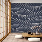 3d Waves Line 7170 Wall Paper Print Wall Decal Deco Indoor Wall Murals Us Summer