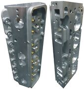 Complete Cnc Ported Aluminum Cylinder Heads Small Block Chevy .550 Lift