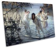 Paul Emile Chabas Dancing Nymphs Picture Single Canvas Wall Art Print