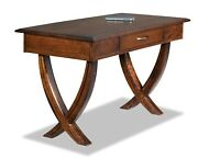 Amish Contemporary Writing Computer Desk Office Furniture Solid Wood Ventura