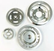 Obx Silver Underdrive Overdrive Crank Pulley For Mitsubishi Eclipse Eagle Talon