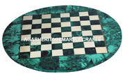 Marble Coffee Chess Table Top Malachite Mosaic Inlay Marquetry Home Decor H2046