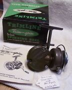 Beautiful Deluxe Trimline Trim-spin Reel 06/18/18pots  Near Mib Plus Papers