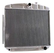 Griffin 6-00046 Aluminum Exact Fit Radiator For 55-56 Chevy V8 Mount