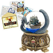 Disney Collectible Snowglobe Pirates Of The Caribbean With Artwork And Pin