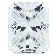 Crushed Ice Radiant First Crush Fab Moissanite Loose Stone
