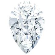 Pear Diamond Faceted Fab Moissanite Loose Stone