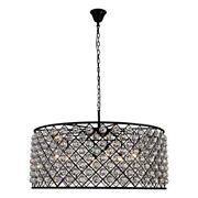 1214 Madison Collection Pendant Lamp D43.5in H18.25in Lt10 Mocha Brown Fin...