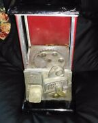 Estate Sale Vintage Unrestored 1923 Red And Black Masters Gumball Machine W/ Key