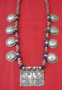 Vintage Antique Tribal Old Silver Pendant Necklace Belly Dance Jewelry Gypsy