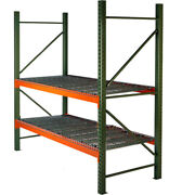New Husky Rack And Wire Tear Drop Pallet Rack With Wire Deck - 96w X 48d X 96