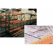 New Husky Rack And Wire Tear Drop Pallet Rack With Wire Deck-120w X 42d X 120