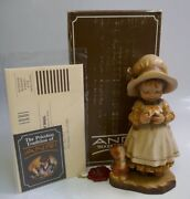 Anri Day Dreaming 6 Hand Carved Wood Figurine By Sarah Kay - New In Box