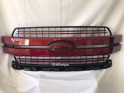 2018 + Ford F-150 Ruby Red Metallic Genuine Ford Grille With Custom Emblems