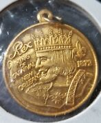 Rex 2008, Sterling Silver Gold Plated New Orleans Mardi Gras Doubloon Charm F97