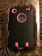 Authentic Black And Pink Otterbox Defender Series Case Cover Apple Iphone 3g 3gs