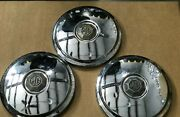 3 Piece Mg Hubcap Wheel Cover Dog Dishes 8 1/2