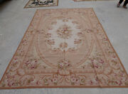 6and039 X 9and039 Shabby Chic Needlepoint French Countryside Floral Muted Rug Swirls Roses