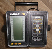 Eagle Z-6100 Lcg Recorder Fish Depth Finder Monitor And Battery Box