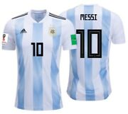 Adidas Lionel Messi Argentina Home Jersey Fifa World Cup 2018 Patches