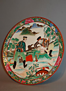 Antique Late C19th Japanese China Platter