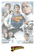 Superman 1978 Limited Edition Convention Poster Art Print - Christopher Reeve