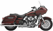Cobra Power Port True Duals Dual Head Pipes Exhaust 2009 18mm Harley Touring Flh