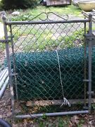 Outdoor Green Wire Fencing With Metal Gate