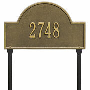 Arch Marker - Standard Lawn - One Line- Green/gold