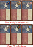 Custom Long Leather Wallet With Distressed Texas Lone Star Flag