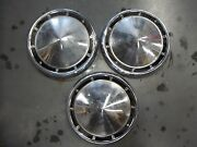 3 Pc Ford Fairlane Galaxie Pickup Truck Dog Dish Hubcaps 10 1/2 Inches