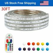 Led Rope Light Rgb Lighting In Outdoor Xmas Christmas 30ft String Lights Remote