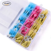 120pcs Heat Shrink Wire Connector Insulate Electrical Copper Crimp Terminals Kit