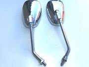 Brand New Set Of Mirrors For Honda Cg125 10mm Emarked Oval Wide