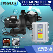 Pond Pump Pool Water Garden Andswimming Pool Heating Pump Filter + Mppt Controller