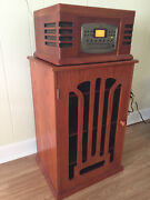 Crosley Cr78cd Radio-phonograph-cd-cassette With Matching Stand