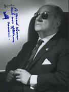 Joaquín Rodrigo Composer Signed Photograph With Typed Letter Signed