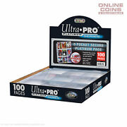 Ultra Pro 9 Pocket Secure Platinum Series Trading Card Pages X 100