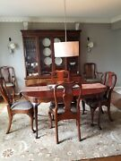 Stunning Hickory Chair Queen Anne Mahogany Furniture Set Pre-owned