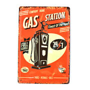 Gas Station Full Service Vintage Metal Tin Signs Decor Art Wall Poster