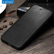 Genuine X-level Leather Flip Wallet Case Cover For Iphone 12 11 Pro Xs Max Xr 8+
