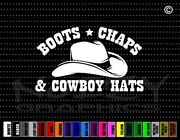 Boot Chaps And Cowboy Hats Cowgirl Up Family Funny Car Decal Window Vinyl Sticker