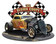 New 1933 Blown Coupe Racing Auto Garage Shop Man Cave Classic Metal Sign Lgb150