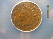 1903 Indian Head Cent Anacs Certified Au-53 Details